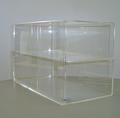 Portable Acrylic Flat Top Display Case  - Aussie Made