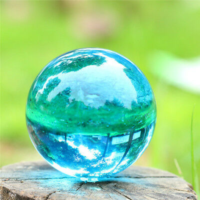 40mm Sky Blue Pure Quartz Crystal Ball with Crystal Display Powerful Home Decor