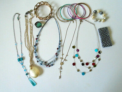 Mixed Lot of Vintage Costume Jewellery, Necklaces, Ring, Bracelets