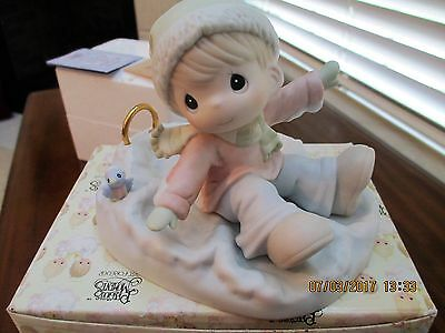 """Precious Moments """"Angels On Earth"""" 1996 ~ #183776 Enesco Collectible"""