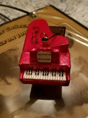 Elton John Red Piano Joy to the World Collectible ZKP3328EJ Glass Ornament - NEW