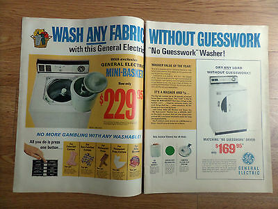 1968 GE General Electric Washer Dryer Ad