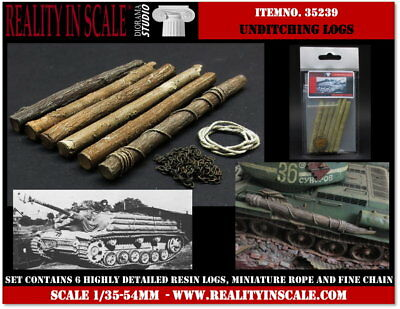1/35 Unditching Logs (6 resin pieces, miniature rope and fine chain)