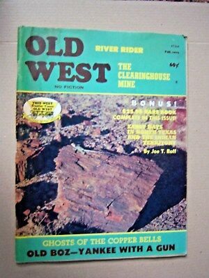 Old West vintage magazine Fall 1974. Pre-owned.