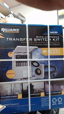 Reliance Back-Up Power Transfer Switch Kit - 306LRK Heavy Duty 6-Circuit P2