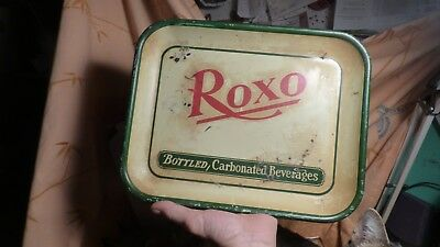 Rare 1920's Vintage Roxo Arcadian Spring Water Soda Metal Tray Sign, Cola- LOOK!