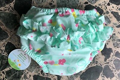 NEW! NWT IPLAY WATERPROOF SWIM DIAPER, GIRLS 3-6m Ruffle butt