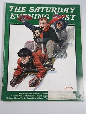 The Saturday Evening Post- Winter 1973: Norman Rockwell, Bobby Orr
