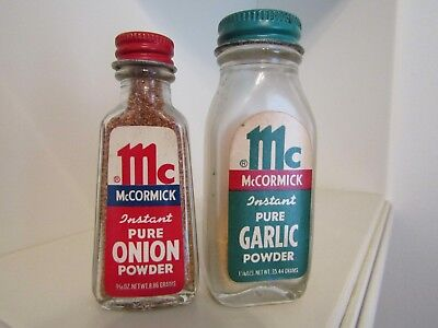 Vintage Mccormick Spices Lot Of 2 Onion Powder And Garlic Powder