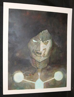Infamous Iron Man #12 Painted Art Cover - Doctor Doom - 2017 art by Alex Maleev