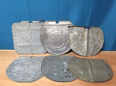 Lot 6 OLD USED Sap Bucket COVERS LIDS GALVANIZED Assortment Maple Syrup NICE!