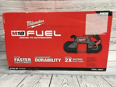 New, Milwaukee M18 2729-20 Fuel Deep Cut Variable Speed Band Saw Only Tool-