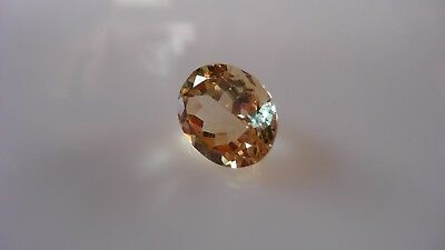 5.95 ct golden yellow, oval cut Orthoclase gem