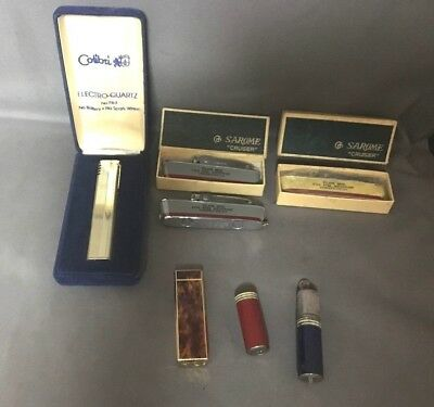 Nice Mixed Lot of 6 Vintage Lighters - Some New in Box - Good Condition!