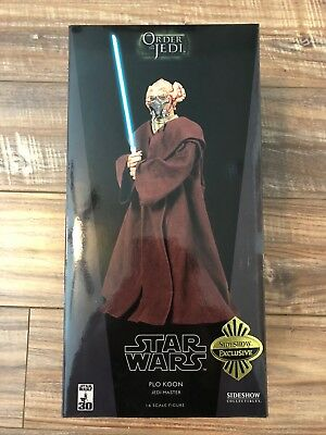 "2007 Star Wars Sideshow 1:6 scale 12"" Jedi Master Plo Koon Exclusive"