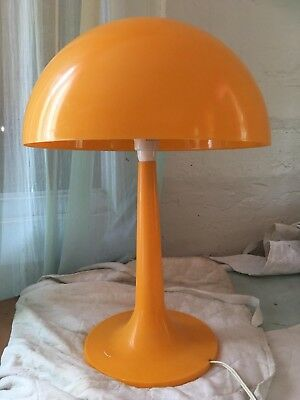 Vintage Retro Mid Century Yellow Mushroom Atomic Plastic Table lamp 60s 70s