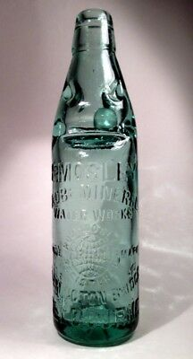 """RARE, VERY OLD & DESIRABLE """"GLOBE MINERAL WATER WORKS"""" BOTTLE (early 1900's)"""