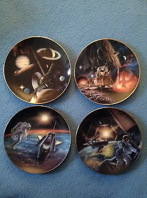 Lot of 4 MILESTONES IN SPACE Plate Collection Hamilton 1995