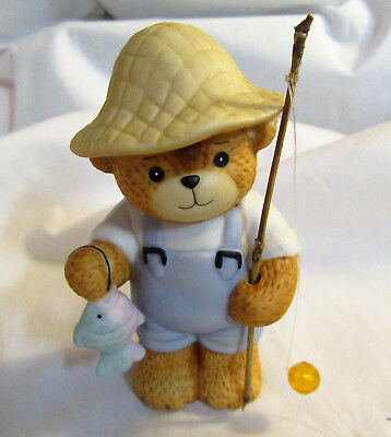 Lucy & Me ~ Fisherman Fishing Sport Hobby Pole Fish ~ Enesco Figurine