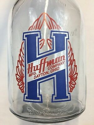 Repop Huffman Motor Oil Bottle With Masters Spout & Cap