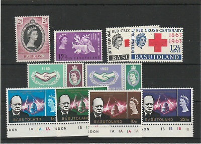 Basutoland stamps 1965. Five complete sets MNH from 1953 - 1965