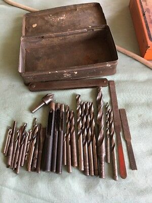 Antique Vintage Patience Nicholson Sutton Etc Drill Bits ToolsX 28