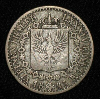 1843, 1/6 Thaler from Prussia, Germany.  No Reserve!