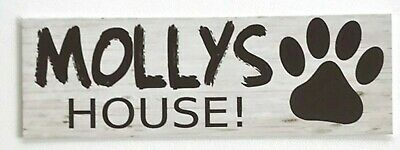 Your Pet Name Custom House Kennel Dog Sign Wall Plaque or Hanging Dogs