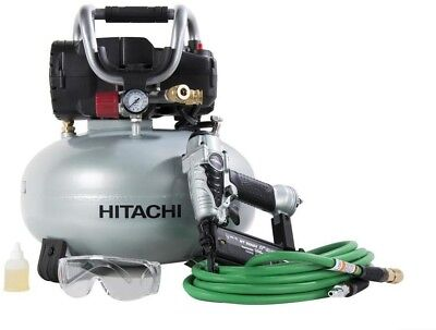 Electric Pancake Air Compressor 150-PSI 18-Gauge Finish Nailer Portable 6-Gallon