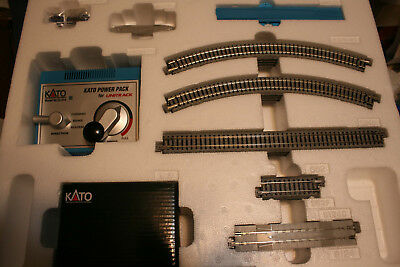 N Scale Kato M1 Basic Starter Track Set -- oval plus power pack -- NEW FROM SET