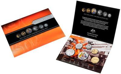 2012 6 Coin Uncirculated Ram Mint Set..special Issue Coloured 50 Cent..