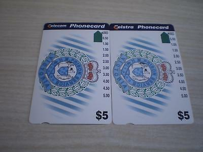 Telecom And Telstra $5 Prison Phonecards Rare Prefix 951 And Telstra 1389 1 Hole