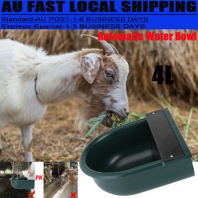 Automatic Water Trough Sheep Horse Dog Chicken Cow Auto Fill Float Valve Bowl 4L
