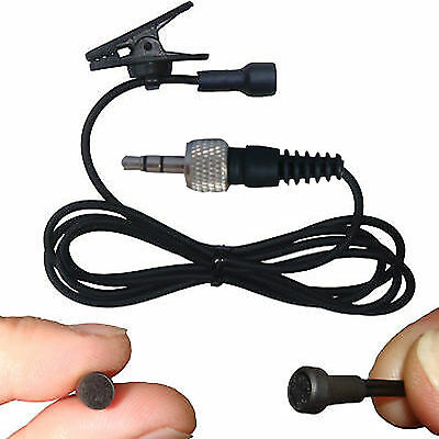 Mini Lavalier Clip On Lapel Microphone For Wireless Body Pack Transmitter System