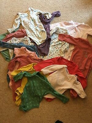 15 Baby girls babygrows/sleepsuit bundle 12 - 18 months NEARLY ALL M&S
