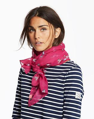 Joules Wensley Lightweight Printed Scarf in Pink Dog in One Size