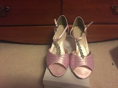 "New David's Bridal Tia Dyed Tickled Prom Bridesmaid Shoes 10W Open Toe 3.5"" Heel"