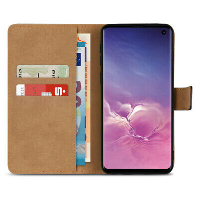 Handy Hülle für Samsung Galaxy S9 Plus J6 A6 Note 9 Tasche Leder Flip Case Cover