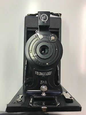 houghtons folding ensign 3 1/4a vintage camera