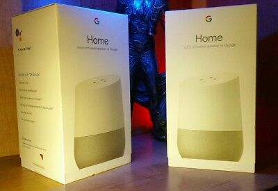 1 BRAND NEW Google Home Voice Activated Speaker Brand New White FREE SHIPPING