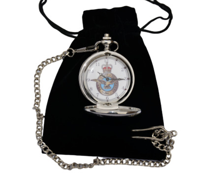 Royal Air Force Uk Army Pocket Watch With Or Without Engraving In Gold Or Silver