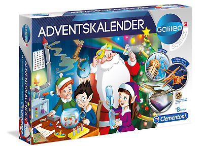 Clementoni Galileo Adventskalender Kinder Experimenten Advents Kalender 59051