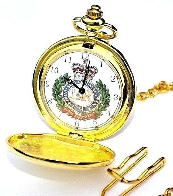 Royal Engineers Uk Army Pocket Watch With / Without Engraving In Gold Or Silver