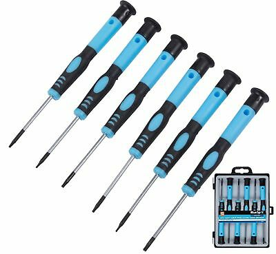 6PC PRECISION TORX SCREWDRIVER SET MAGNETIC TIPS T5 to T10 WITH STORAGE CASE