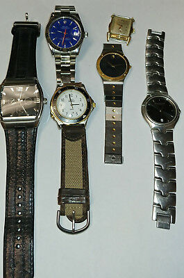 Vintage Lot of Mens Watches - Bulova - Movado - Kenneth Cole - Timex
