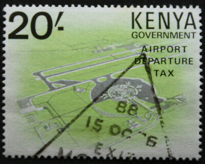 Kenya 20/- Government Airport Departure Tax Revenue Stamp Used