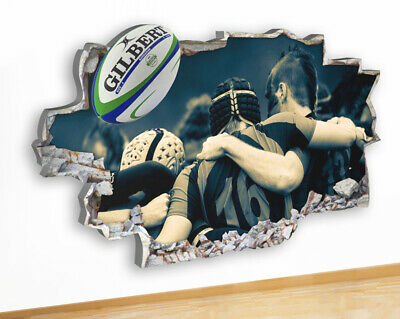 Q147 Rugby Team Sport Players Ball Cool Canvas Picture Poster Wall Art Stickers