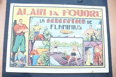 Bd-Alain La Foudre Format 27 X 18,5 Cm -1947 - N°12 -Tbe ! Collection Victoire