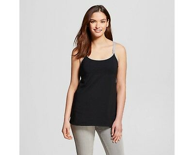 NWT-Nursing Hands-Free Pumping Cami/Bra Pull Over Black Size XLarge See Pics