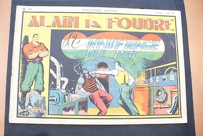 Bd-Alain La Foudre Format 27 X 18,5 Cm -1947 - N°23 -Tbe ! Collection Victoire